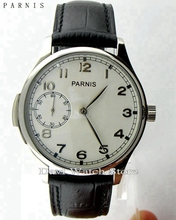 Parnis 44mm steel case hand winding Seagull st36 movement mens 6497 Watch