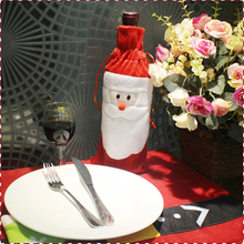 ANGRLY Christmas Tree Ornaments Wine Bottle Cover Red Wine Bag Wedding Centerpieces Bulk Christmas Ornaments Gift Bags(China)