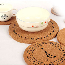 1PC Wood Drink Tea Coffee Cup Mat Towel Crown Flower Pattern Bowl Mat Pads Insulation Table Heat Resistant Round Drinks Mats(China)