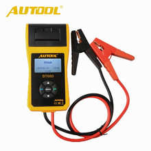 AUTOOL BT-660 Car Battery Tester With Built-in Printer BT660 Battery Analyzer 12V Battery Tester(China)