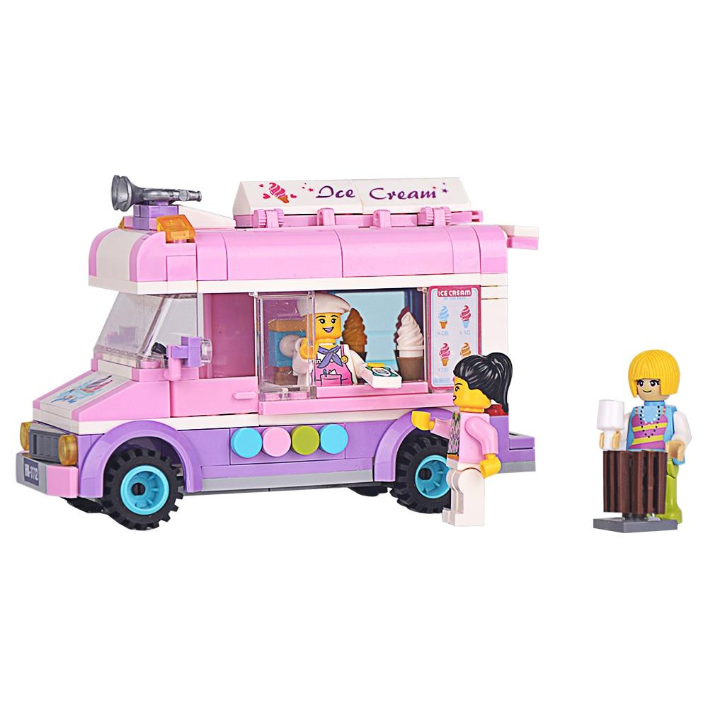 Girlfriend Series Toy 213 PCS Cute Mini Pink Ice Cream Car ENLIGHTEN Brand Building Blocks Brick Kid Toys Gift<br><br>Aliexpress