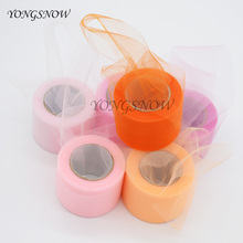 22 m/lot 5cm Wide Tulle Roll Fabric Spool Tutu Party Gift Wrap Crafts Decorative Wedding Decoration Birthday Party Supplies 9Z