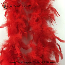 Length 2 Meter Turkey Feather Boas Lady Scarf for Clothing Accessories Wedding Decorations Centerpieces Feathers