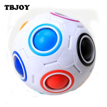 1 Pc Creative Spherical Speed Rainbow Ball Football Jigsaw Puzzles Kids Educational Learning Fun Toys for Children Adult Gifts