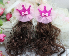 D532 hair clip manufacturers selling hairpins new Korean ribbon shining crown children hairpins