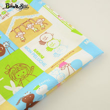2017 100% Cotton Twill Fabric Lovely Cartoon Pattern Home Textile Quilting Fabric Tissue For Swing Bedding Baby Kid Clothing(China)