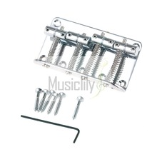 Chrome 4 String Vintage Bridge For Jazz Style Bass JB Top Load Upgrade