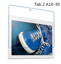 2Pcs/Lot 9H Tempered Glass Screen Protector Film for Lenovo Tab 2 A10 30 A10-30 X30F X30L + Alcohol Cloth + Dust Absorber