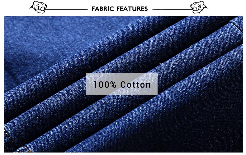 TIGER CASTLE Men Cotton Straight Classic Jeans Baggy Plus Size Spring Autumn Men's Denim Pants Straight Designer Trousers Male 12