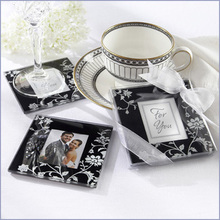 wedding gift and giveaways--All Start Photo Glass Coaster party favor souvenir 100pcs/lot