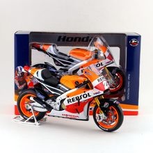 Maisto/1:10 Scale/Simulation Diecast model motorcycle toy/2014 Honda Repsol RC213V Racing/Delicate children's toy or colllection(China)