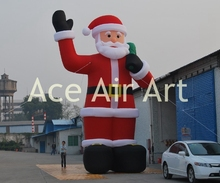 Charming Christmas decoration inflatables blow up inflatable Santa Claus say hello to you