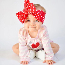 1PC New Arrival Kids Knot Headband Dots/Plaid/Striped Print Bowknot Headband DIY Headband Girls 0-6 Years old(China)
