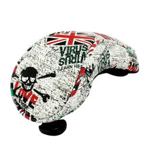 1 Piece Thick PU Leather Union Jack Golf Hybrid Headcover Cover Golf UT Headcover Utility Rescue Number Tag(China)