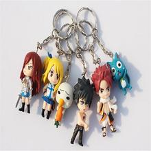 6 Pieces Key Chain Cute Anime Fairy Tail Erza Scarlet Key Ring Keychain Garage Kit Hot Fashion Creative Excellent Quality Gift(China)