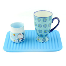 Food Grade Waterproof Silicone Placemat Bar Mat Table Mat Colorful Non-Slip Heat Resistant Plate Mat pot pad Kitchen Gadget