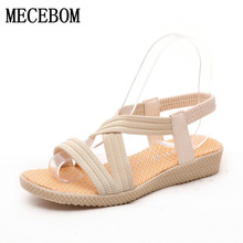 Women Shoes Sandals Comfort Sandals Summer Flip Flops 2017 Fashion High Quality Flat Sandals Gladiator Sandalias Mujer 2618W(China)