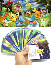 XY TCG 20Pcs English Trading Flash Cards Go Game Collection Cards Anime Charmander Eevee Bulbasaur Action Figures kids Gift Toy