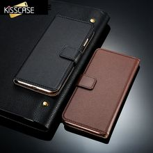 KISSCASE Wallet Flip Case for iPhone 7 6 6S Plus Genuine Leather Retro Stand Elegant Bags Pouch Phone Cover for iphone 7 6 6S
