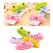 2pc New Toothpaste Tube Squeezer Easy Squeeze Paste Dispenser Roll Holder Cartoon Frog/AnimalCat/Frog/Panda/Pig Hot Selling