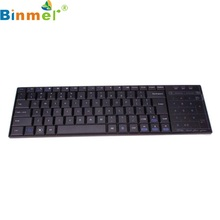 Beautiful Gift New Bluetooth 3.0 Ultra Mini Keyboard Touch Pad Mouse for iOS Windows Android Wholesale price May17(China)