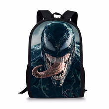 FORUDESIGNS 2018 Venom Print Backpack Boys Children Bookbag Black Men's Rucksack Casual Fashion Shoulder Daypack School Bags