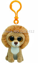 Cute Ty Beanie Boos Stuffed Animal Big Eyes King Lion Plush Clip Keychains Key Chian Pendant Kids Toys for Children Gifts
