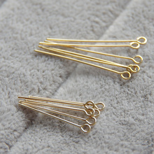 IB5436 Gold filled 9 pins connector needles 0.5*19mm 30pcs DIY jewerly accessories(China)