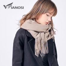 VIANOSI 2017 Winter Scarf Women High Quality Wool Scarf Large Shawls and Wraps Brand Bufandas Mujer Soft Foulard VA237(China)