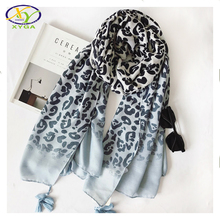 1PC 2017 Spring New Design Polyester Cotton Leopard Printed Women Fashion Long Scarf  Woman New Design Cotton Pashminas Shawl