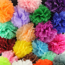 "10pcs/set Wedding Decorative 20cm(8"")Props Supplies Tissue Paper Pom Poms Wedding Party Festival Decoration wholesale Retail"