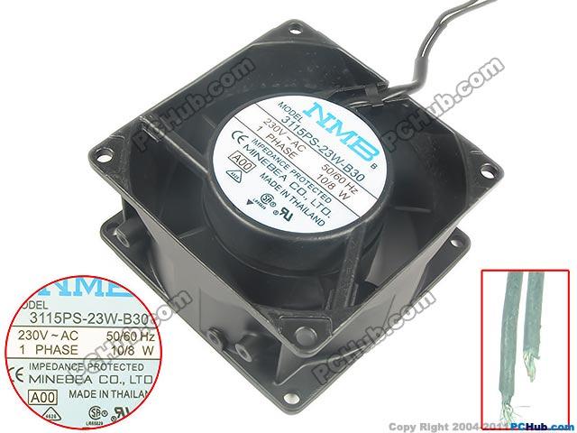 NMB-MAT 3115PS-23W-B30, A00 AC 230V 10/8W  9 0mm 80X80X38mm Server Square  fan<br>