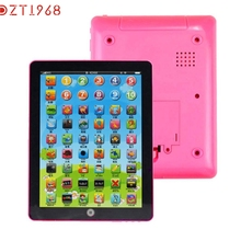 DZT1968 Modern Child Kids Computer Tablet Chinese English Learning Study Machine Toy For Children kids Baby Drop Shipping Jan17