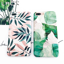 LACK Retro Plants Leaf Phone Case For iphone 7 Plus Case Colorful Flowers Summer Letter Cover Hard Cases For iphone 7 Case(China)