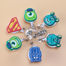 1psc Monster University High Quality Retractable Pull Badge Reel ID Card Clip ID Badge Lanyard Name Tag Card For School Office(China)