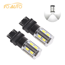 2pcs 3156 3157 P27/7W T25 High Power 12SMD 5730 Chip+ 5W Cree  LED chips  Xenon white led Turn Signal Lights Bulbs,3156 P27W