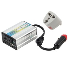 12V DC to AC 220V Car Auto Power Inverter Converter Adapter Adaptor 200W USB Newest Hot