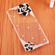 White Black Pink Camellia Clear hard plastic Case for HTC Desire 626 / 626G dual sim / 626W 626D Case for HTC Desire 626 Cases