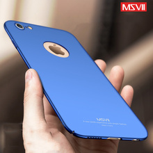Msvii Case For iPhone 6s Case Luxury 360 Full Protection Hard Plastic Frosted Case For iphone 6 Plus 6s plus Phone Back Cover(China)