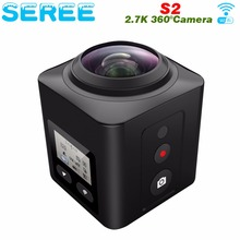 Seree Mini 360 Video Camera 4K WiFi Sport Action Camera 16MP 3D DVR Waterproof Digital Camcorder Deportiva VR Cam for Iphone LG