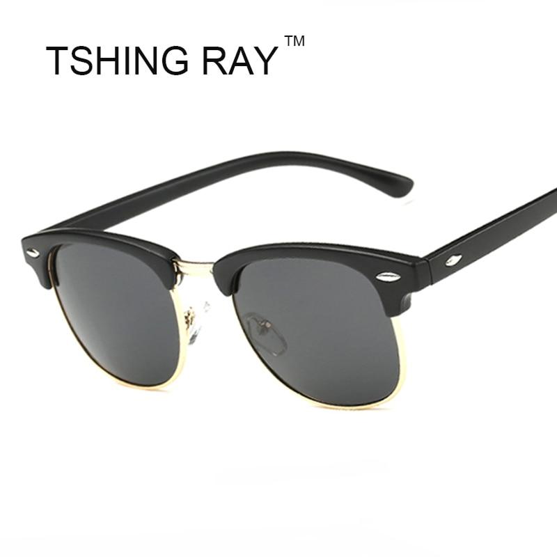 TSHING RAY Half Frame Polarized Sunglasses Men Women Brand Designer G15 Coating Mirror Sun Glasses Female Gafas Oculos UV400<br><br>Aliexpress