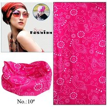 100pcs/lot Wholesale Nice Women 100% Polyester Microfiber Tube Multifunctional Seamless Outdoor Bandana (Mix Design Available)
