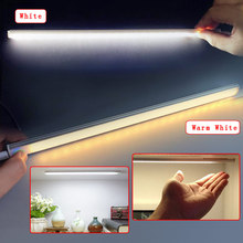 21LED Adjustable 450LM White / Warm White Touch Sensor Light USB Ultrathin Closet Cabinet Lamp For Kitchen Bedroom Wall Lamp(China)