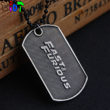 Hot film The fast and the furious choker necklace letter fast&furious LOGO dog tag alloy Pendant Necklaces FF8 fans jewelry gift