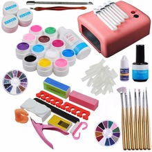 Pro 36W Nail Lamp Dryer UV Gel Nail Kit Sets Gel Polishes Tips Builder Gel False Nail Tips Cutter Manicure Nail Art Tool Kits