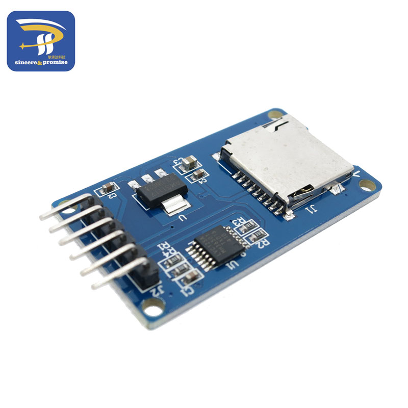 Micro SD card mini TF card reader module SPI interfaces with level converter chip