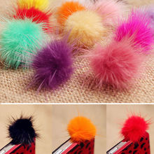 Lovely Cute Rabbit Fur Ball Mobile Phone Ear Cap Anti Dust Jack Plug Universal