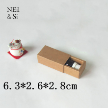 Small Gift Kraft Box Essential oil Lipstick Perfume BottlePackaging Drawer Paper Boxes Free Shipping(China)