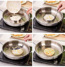 1pc Simple Creativity Heart  Round Stainless Steel Kitchen  Cooking Fried Egg Pancake  Mold Shaper Kitchen Tools