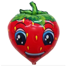 Foil Helium Balloons Aluminum film fruit strawberry 63cm Party Wedding supplies Toys Christmas Inflatable cartoon doll Animation